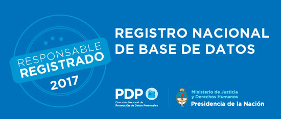 LACE Responsable Registrado Registro Nacional de Base de Datos